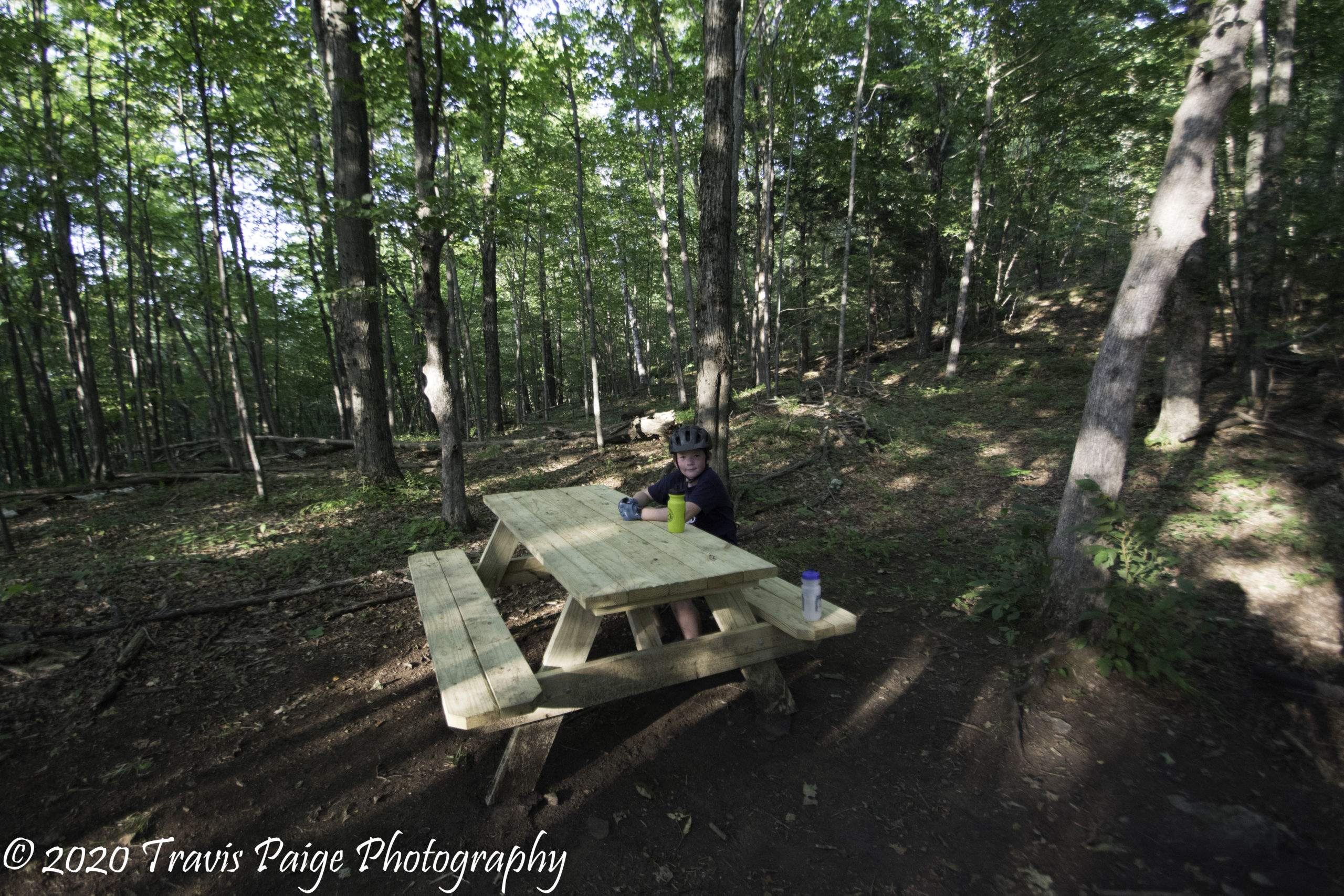 Taking a Break at the Ascutney Trails
