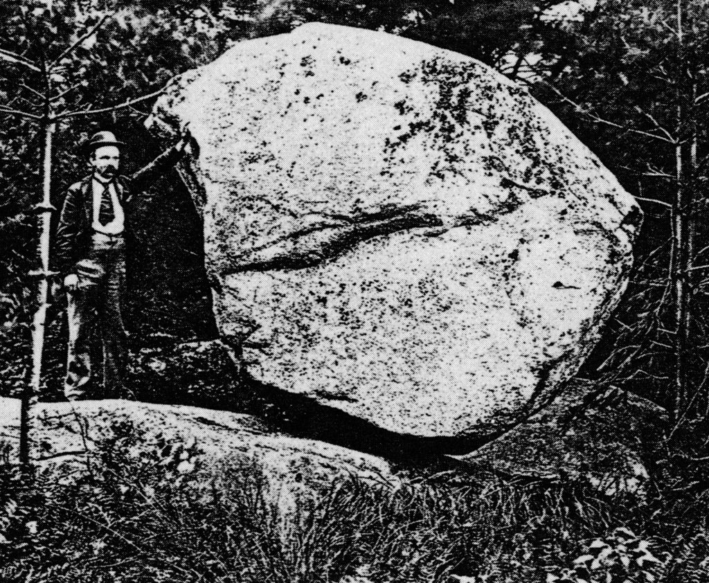 Old Photo of Tipping Rock